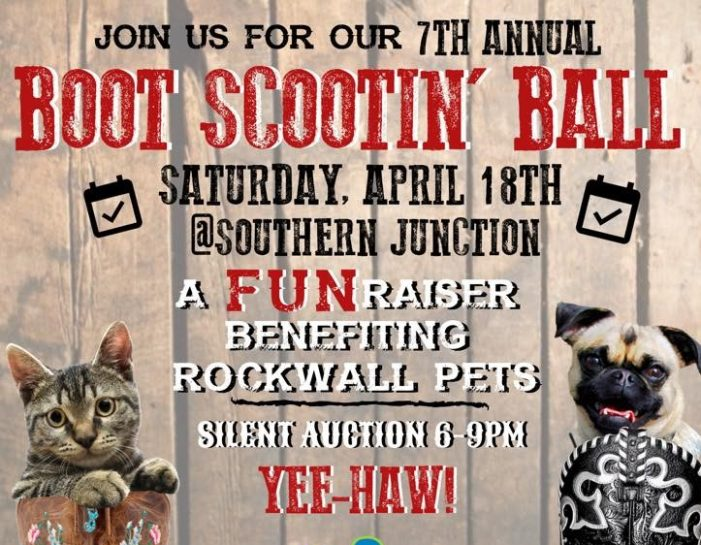 Rockwall Pets announces 2020 Boot Scootin' Ball, fundraiser and silent auction