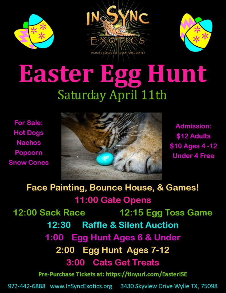 Easter Egg Hunt at In-Sync Exotics