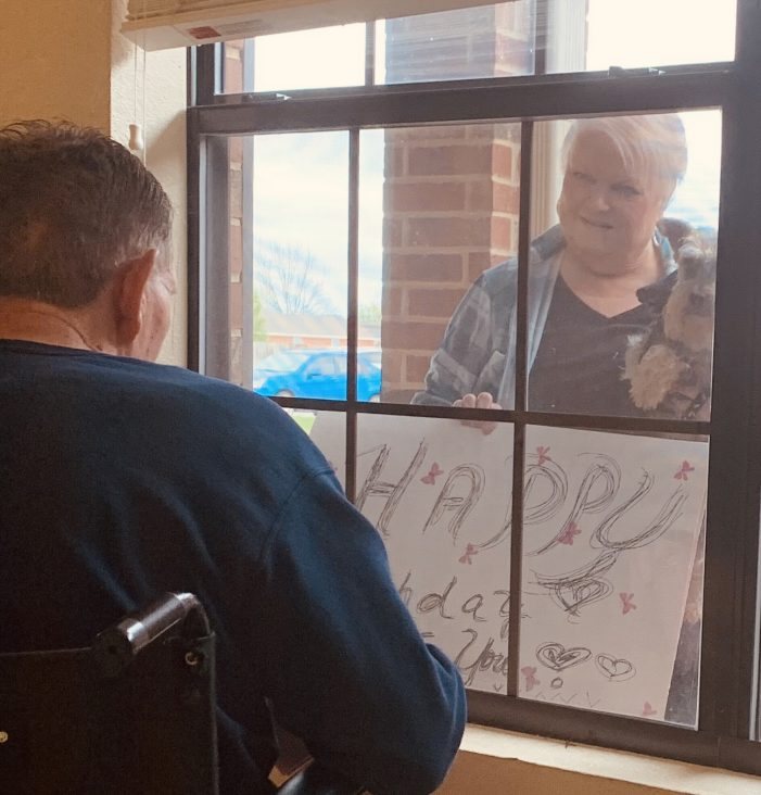 Love will find a way: Birthday celebration through a nursing home window