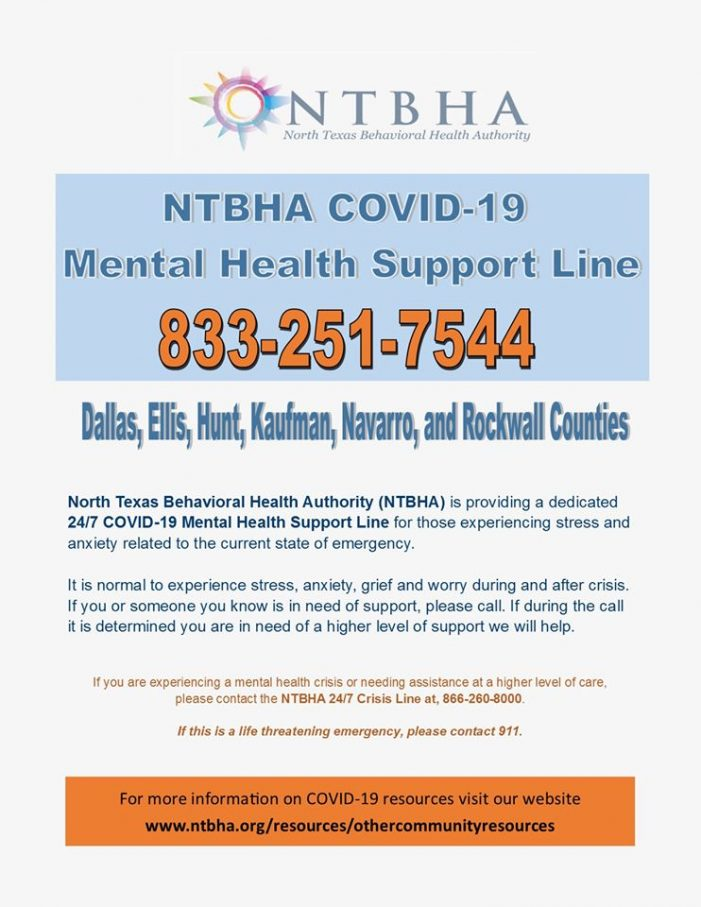 Stressed? Anxious? COVID-19 Mental Health Support Line available