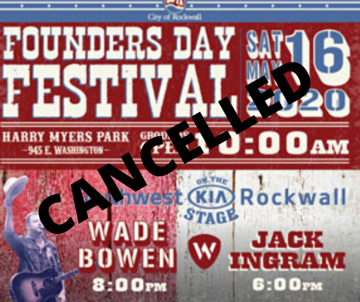 City of Rockwall to cancel Founders Day Festival 2020