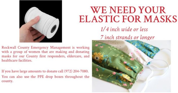 Got elastic? Rockwall County Office of Emergency Management requests donations