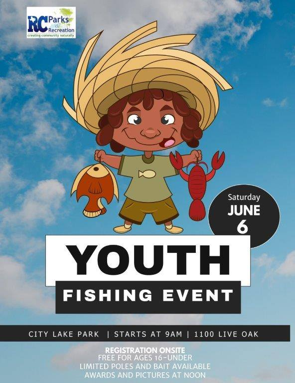 Royse City Parks & Rec to host Youth Fishing Event Saturday, June 6 at City Lake Park