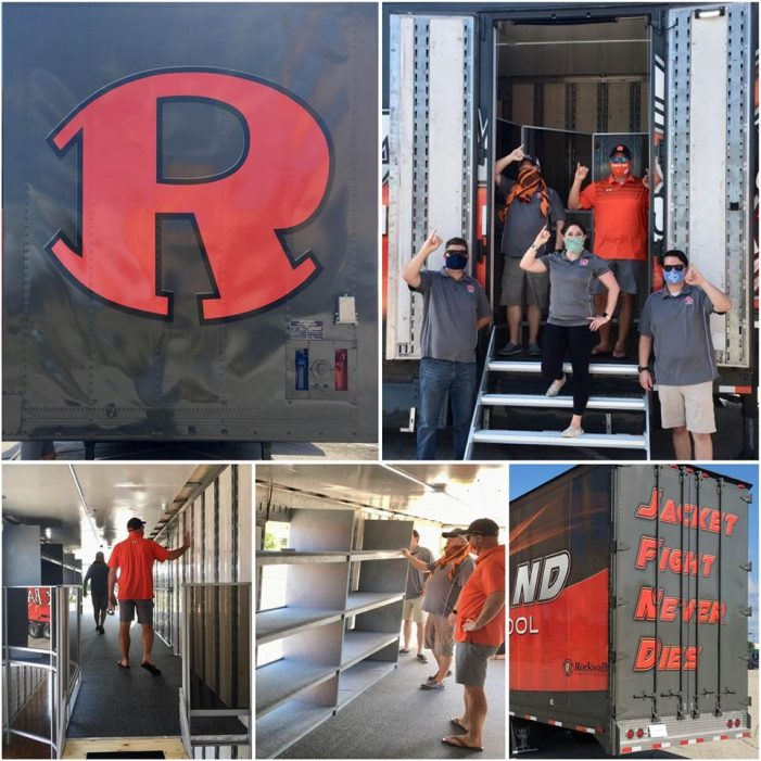 Rockwall High School's new band trailer is here!