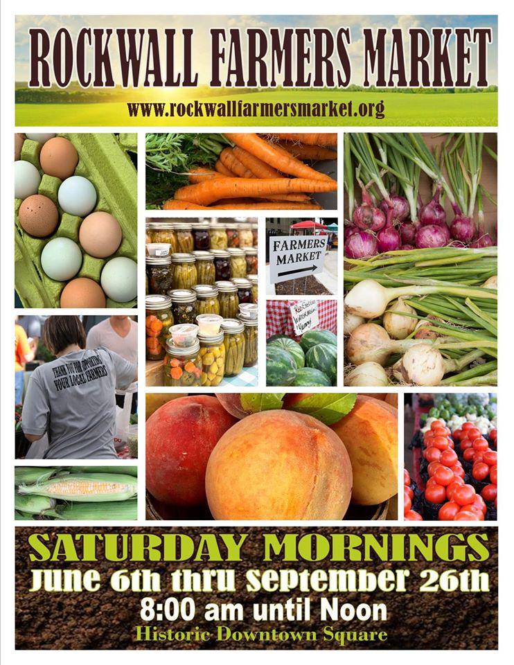 Farmers Market to open June 6 in Downtown Rockwall