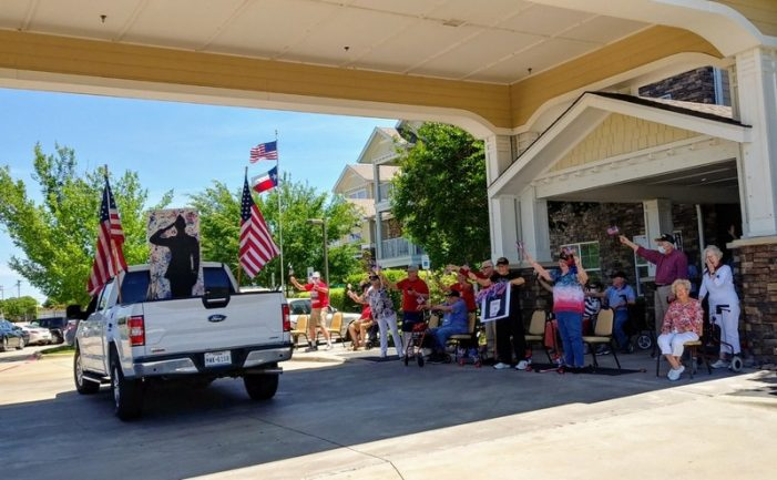 Terry Fisher American Legion Post 117 delights Liberty Heights senior residents with car parade