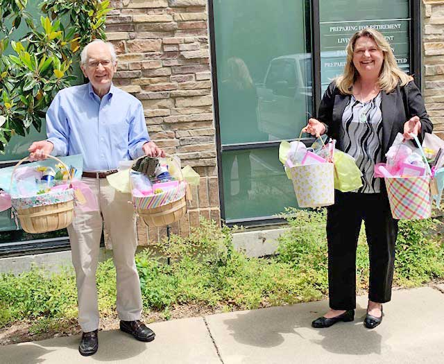 Edward Jones, Kelly D. Connel office and Rockwall Rotary deliver 'Ray of Sunshine' Baskets to seniors