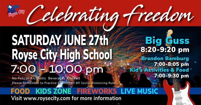 Royse City to host 'Celebrating Freedom' event with live music, fireworks