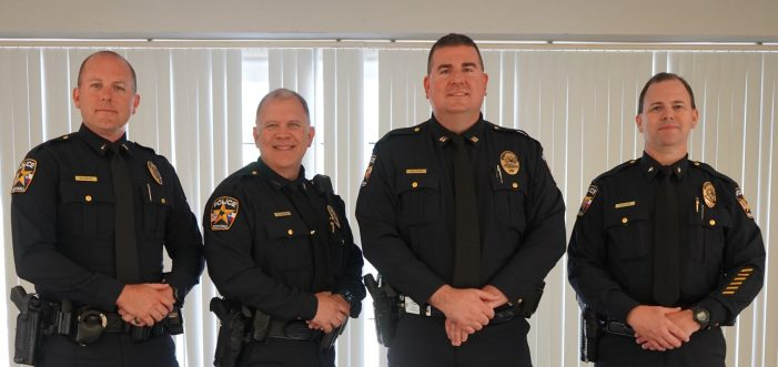 Rockwall Police Department celebrates promotion of three officers