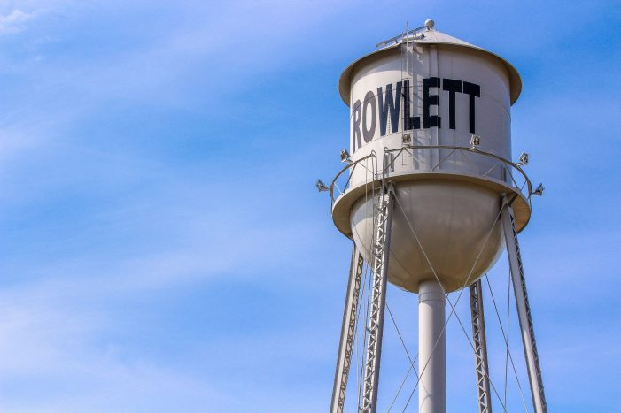 Rowlett water tower to light up crimson & gold in honor of George Floyd