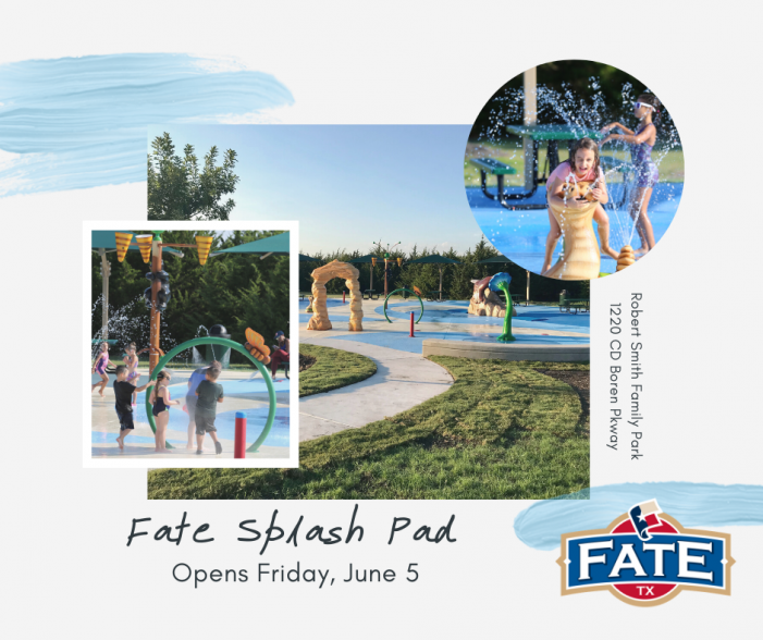 Fate Splash Pad now open at Robert Smith Family Park