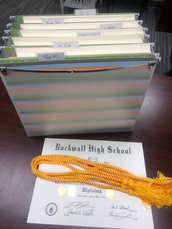 On graduation day, Rockwall High counselors share record student achievements