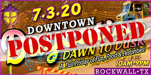 UPDATE: Rockwall's Downtown Daycation event postponed