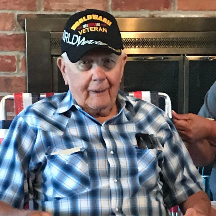 Lifelong Heath resident and war veteran Wayne Jones celebrates his 95th birthday