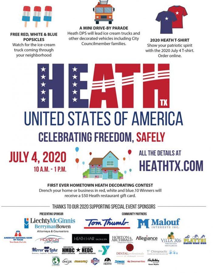 City of Heath to host drive-by parade for the Fourth; decorating contest