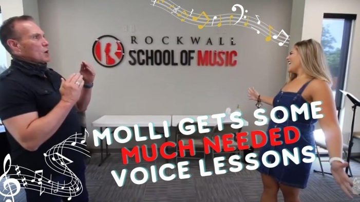 'Candidly Curtis' on Blue Ribbon News: Molli gets voice lessons at Rockwall School of Music
