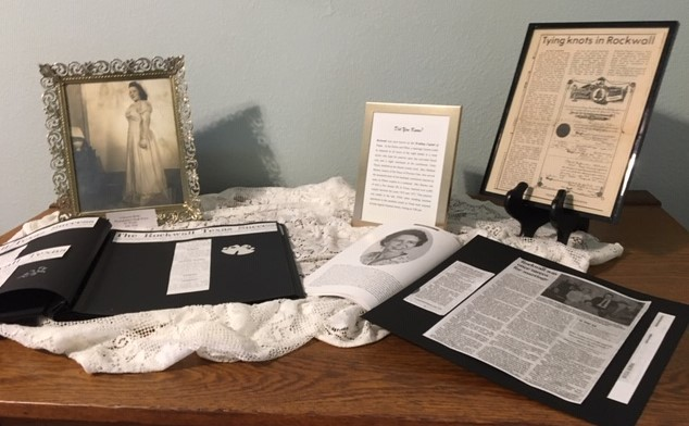 Historical Foundation exhibit at Bailey House pays tribute to Rockwall as 'Wedding Capital of Texas'