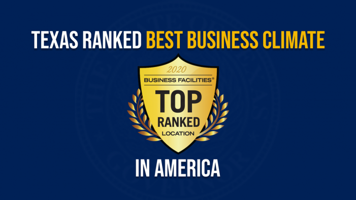 Texas ranked Best Business Climate in America