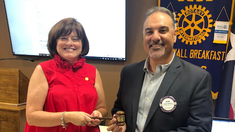 Rockwall Breakfast Rotary inducts new president