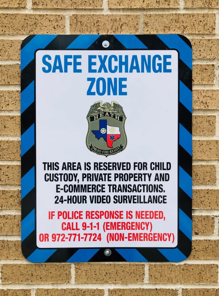Heath Department of Public Safety offers Safe Exchange Zone