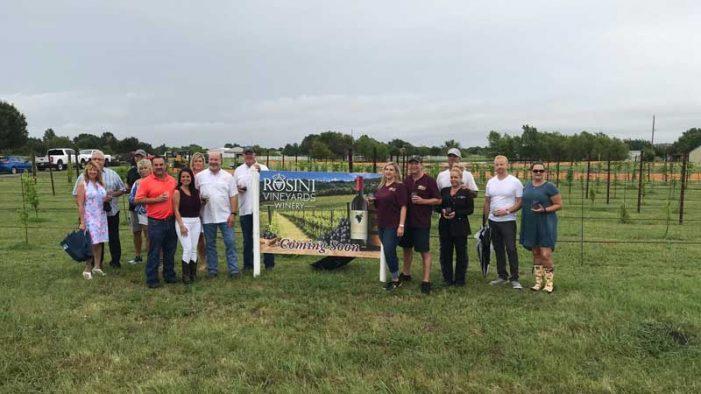 Rockwall County celebrates groundbreaking of Rosini Vineyards in McLendon-Chisholm