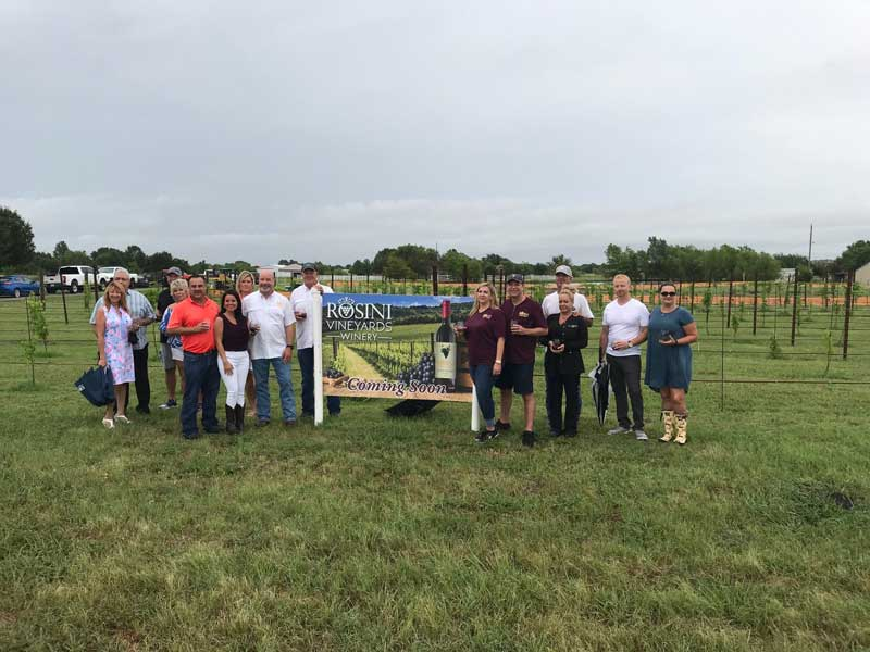 Rosini Vineyards Winery groundbreaking ceremony
