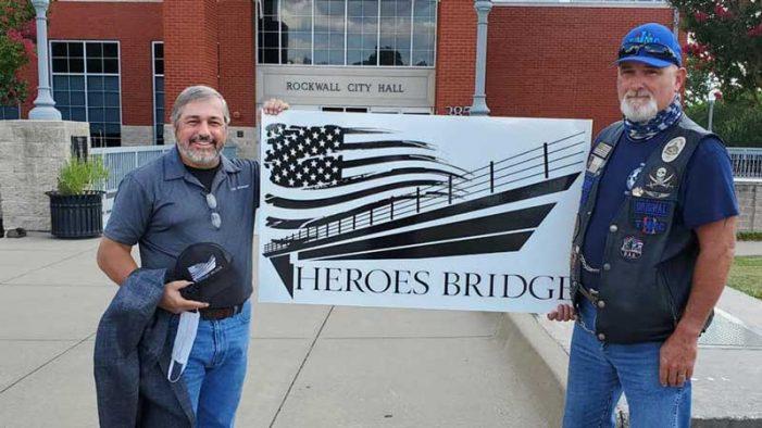 Rockwall city council approves renaming of SH 66 bridge to 'Heroes Bridge'
