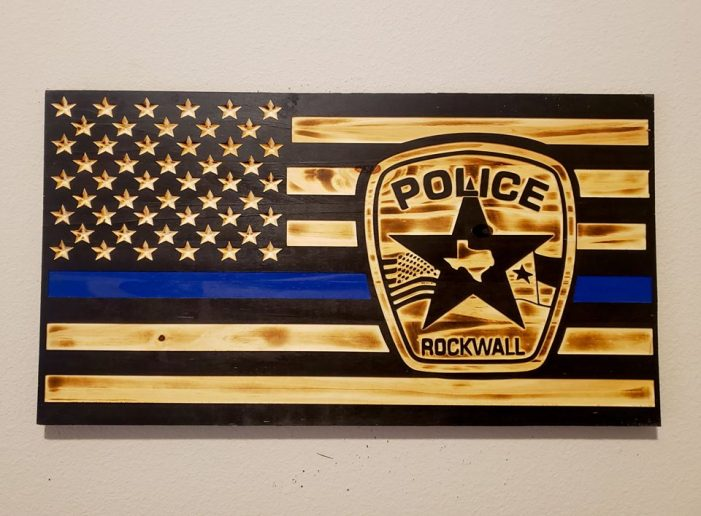 Flag raffle to support Rockwall Police Officer Tracy Gaines' family