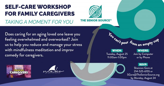 Self-Care Workshop planned for family caregivers Aug. 25