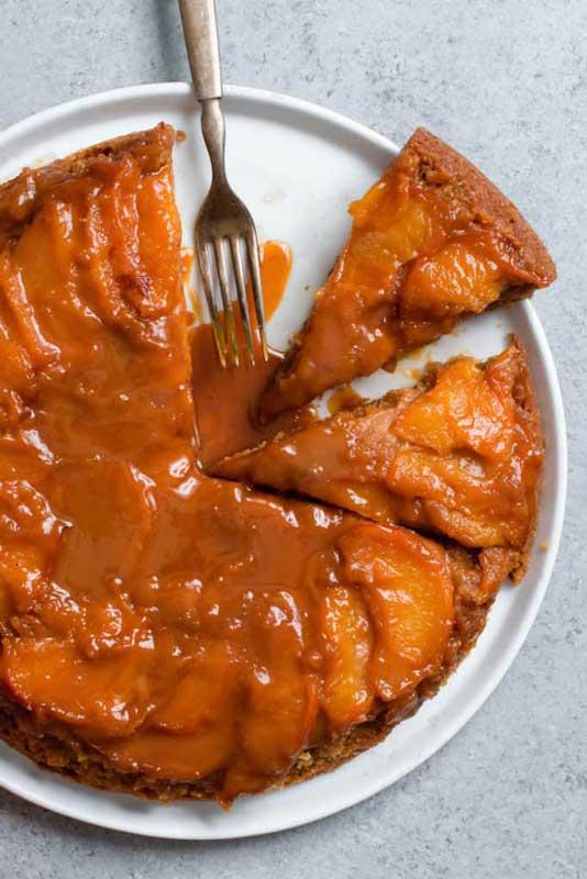 Caramel Peach Dump Cake