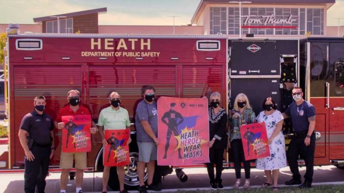 City of Heath launches mask campaign 'Heath Heroes Wear Masks'