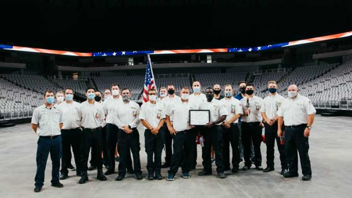 Rockwall area Milestone Electric technicians partake in the 9/11 Memorial Stair Climb