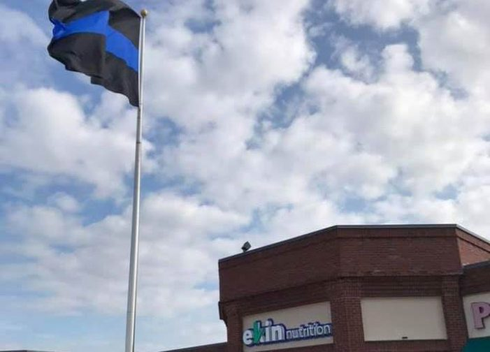 Rockwall business hosts Texas' largest Thin Blue Line flag