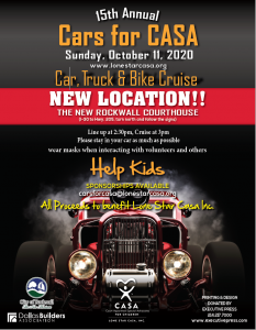 Cars for CASA, Cruise Edition, set for Oct. 11 in Rockwall
