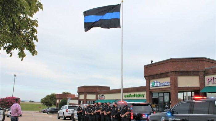 Rockwall business's large Thin Blue Line flag might be a Guinness World Record