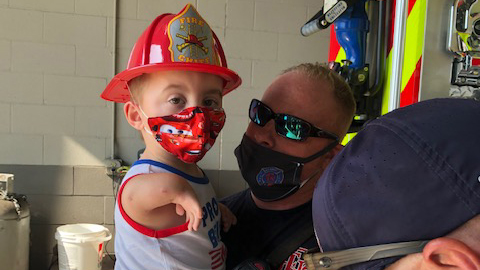 Rockwall Fire Department treats family of 3-year-old with TAR Syndrome to special day at Station No. 2