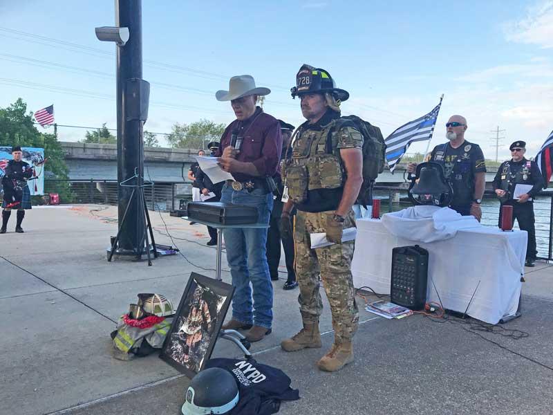 9/11 memorial ceremony at State Highway 66 bridge in Rockwall