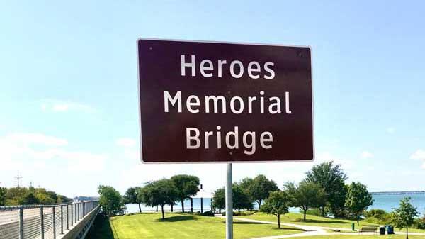 Rockwall, Rowlett dedicate SH 66 bridge as Heroes Bridge