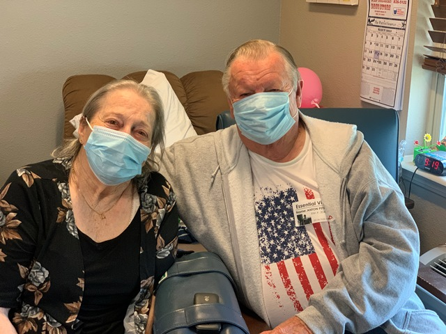 Couple reunited: Rockwall health and rehab center welcomes first visitor in six months