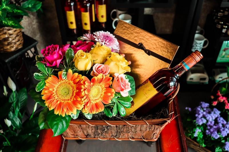 Lakeside Florist gift basket