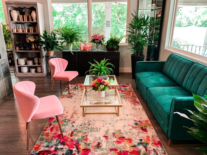 Lakeside Florist consultation lounge