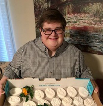 Local young man starts up artisan soap business in response to isolation from COVID