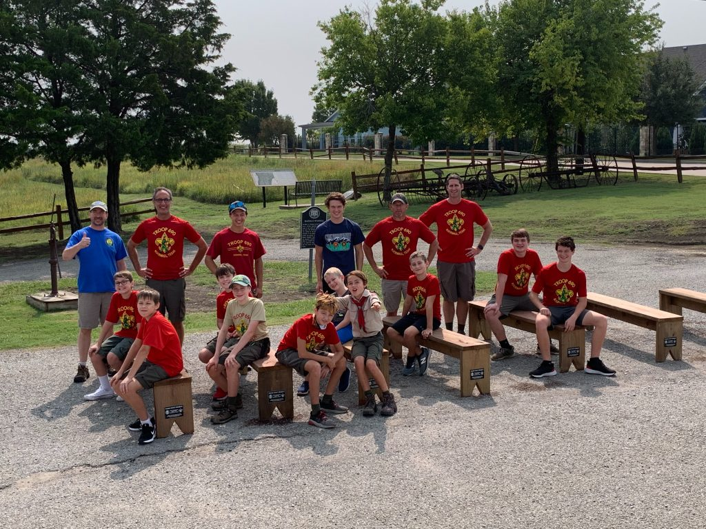Jude Wilkerson, 13, builds benches at Rockwall's historical museum for  Eagle Scout project – Blue Ribbon News