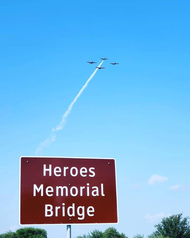 Heroes Memorial Bridge Dedication flyover