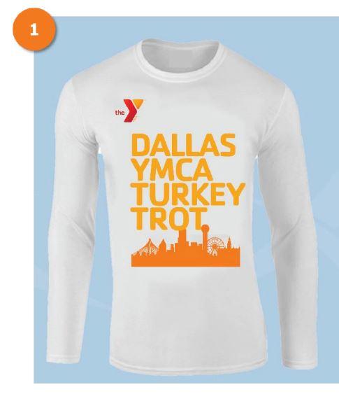 2020 Dallas YMCA Turkey Trot race day shirt design 1