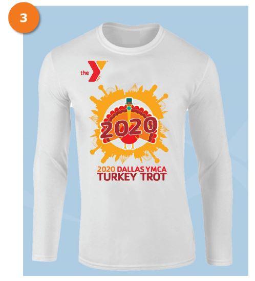 2020 Dallas YMCA Turkey Trot race day shirt design 3