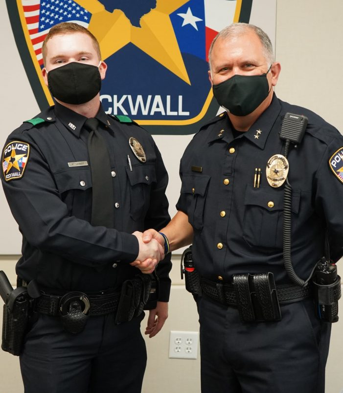 Rockwall Police Dept. welcomes Officer Mitchell Attaway