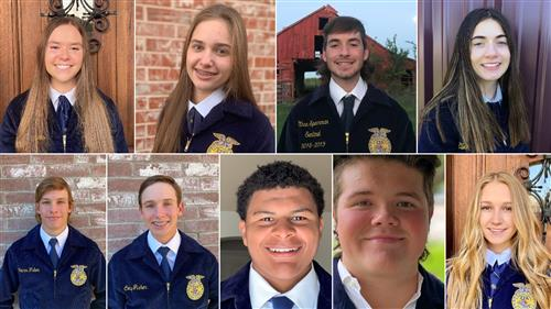 Introducing Rockwall FFA Officers for 2020-2021