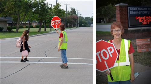 Rockwall ISD crossing guard pushes through adversity to continue doing what she loves