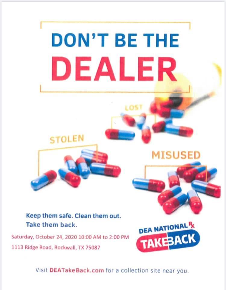DEA Drug Take Back Day poster